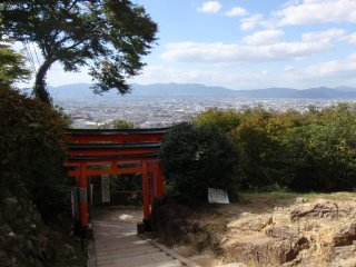 Looking down over Kyoto