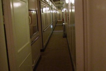 Below deck, take a look at rooms where staff stayed.