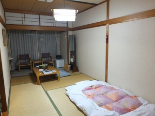 The rooms here are all tatami mat rooms, and have no toilet or bath in the room