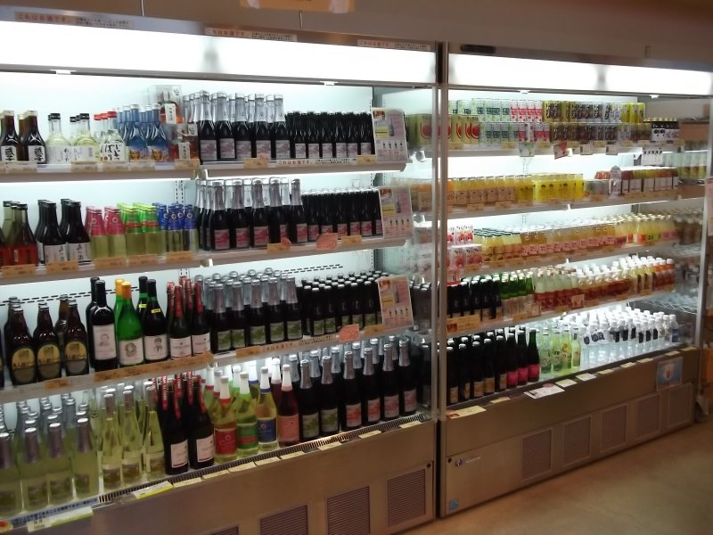 You can pick from scores of different locally produced drinks