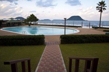 <p>The beachside pool</p>
