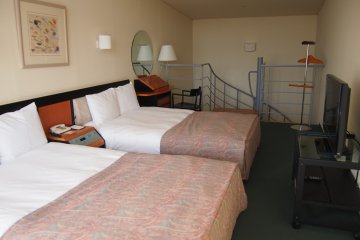 Rooms in RISONARE Yatsugatake are much more spacious than the standard hotel room.