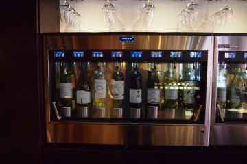 A wide selection of regional wines are available.