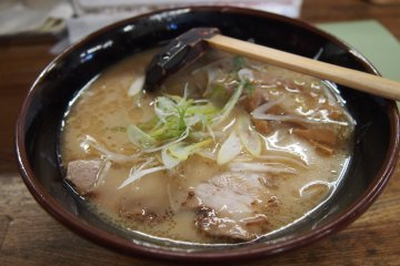 Shio ramen. The soup base is thick and flavourful and the charsiew soft with a chewy bite.