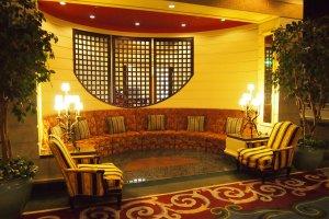 Comfortable sofas at the lobby of Asahikawa Grand.