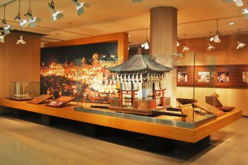 The miniature of former Yatai on the second floor