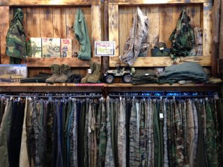 This section in part explains why so many Okinawan farmers are wearing American camouflage fatigues