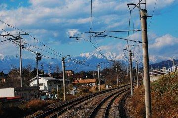 Japan Alpine during the way to Matsumoto