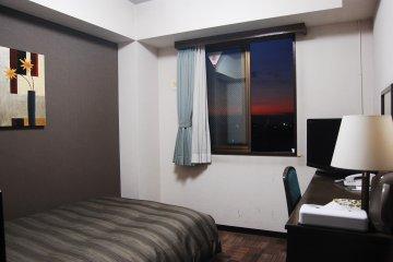 Single room of Hotel Route Inn Isesaki
