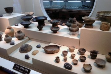 The Jomon civilization was known for their skillful pottery. Here you can see many fine examples.
