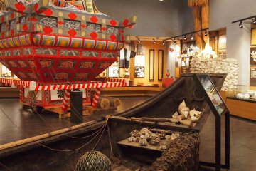A Shiretoko-Neputa float used during summer festivals in July.