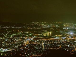 迷人的北九州夜景