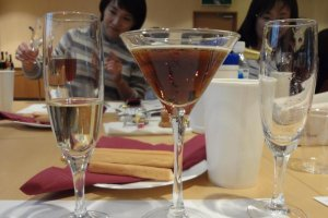 Kirin also offers a wine seminar. We participated in this seminar on another day.