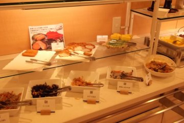 <p>The buffet breakfast</p>