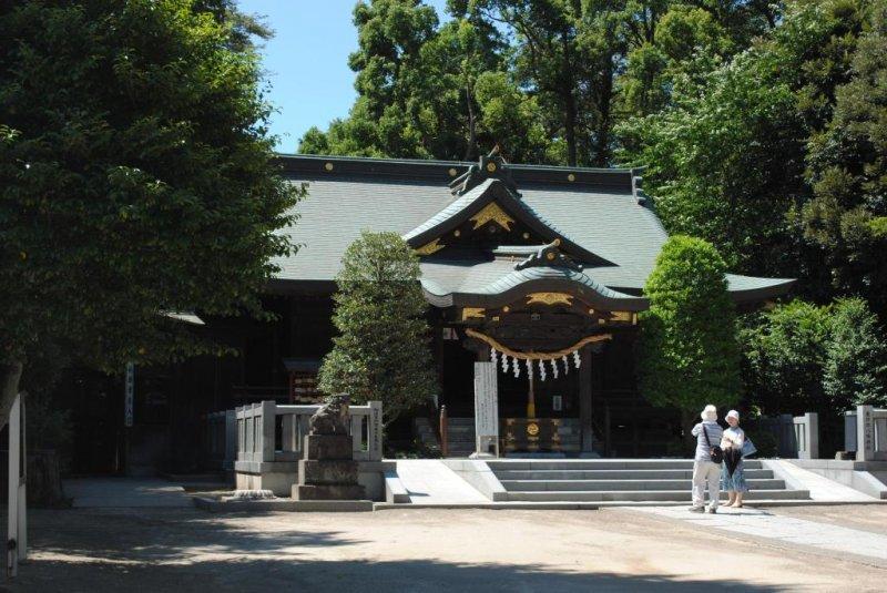 The main shrine on a delightful summer's day