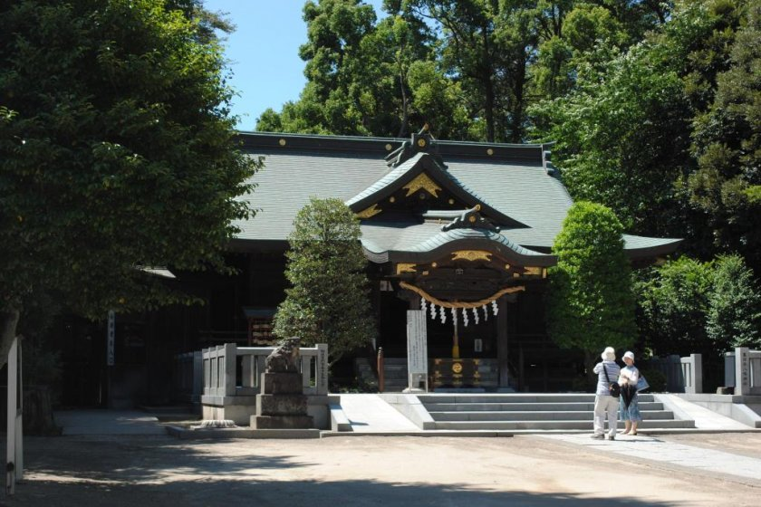 The main shrine on a delightful summer\'s day