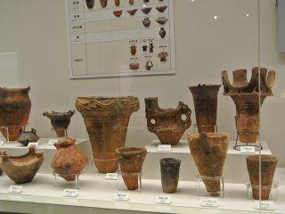 Exhibition of artifacts that have been unearthed