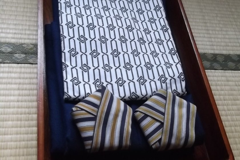 The yukata(Japanese robe) provided for after bathing