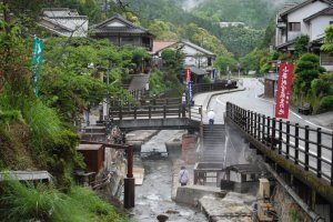 Yunomine is a remote onsen village in the Kumano area popular with pilgrims and hikers on the Kumano Kodo.