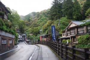Yunomine is a quiet onsen in a mountain valley.
