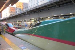 JR東京駅停車中の東北新幹線やまびこ