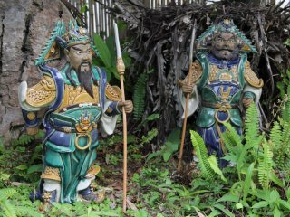 Garden gnomes of Japanese persuasion