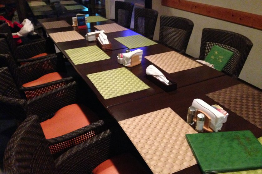 The Okuma Surfside Restaurant offers beachfront dining with famed U.S. Air Force club system hospitality