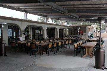 <p>The restaurant can seat 124 in its indoor dining room and dozens more on its beachfront patio</p>
