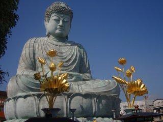 JR 효고역에서 걸어서 10분 거리에 있는 효고의 대불은 일본의 3대 불교 동상 중 하나이다.(다른 둘은 나라, 가마쿠라에 있다.)