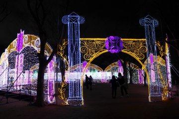 ชมงาน3D Illuminationที่ปราสาทโอซาก้า