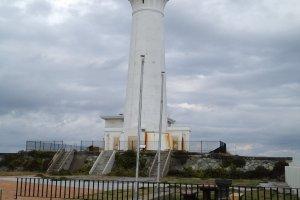 The lighthouse on Cape Shiriya.