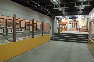 Exhibition hall of Equine Museum of Japan