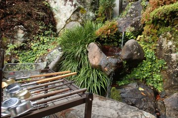 <p>Water flowing out of the rocks is said to have healing properties</p>