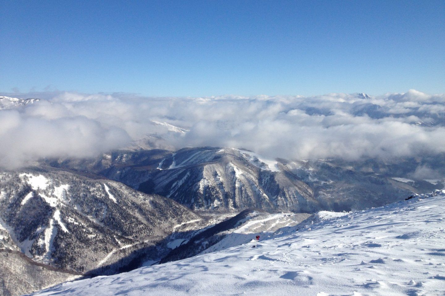 Hakuba Goryu as viewed from the Happo summit offers a gold medal view for skiers and snowboarders.