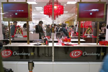 <p>Just arrived at the&nbsp;KitKat&nbsp;Chocolatory located in Seibu&nbsp;Ikebukuro.</p>