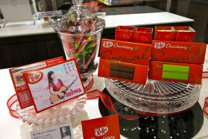 A few of the KitKat premium flavors offered