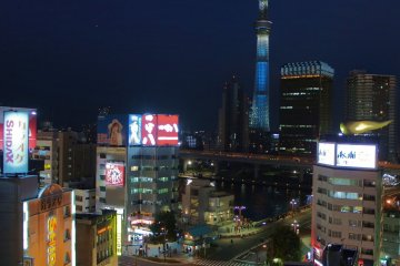 <p>The Tokyo Skytree&nbsp;seen&nbsp;from the observation space</p>
