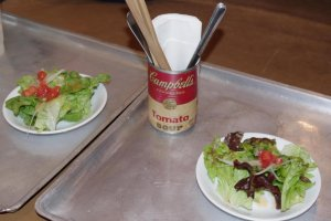Complimentary Salad, and the very Retro Campbell's Tin!