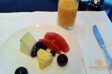 Fresh Fruit served in the buffet