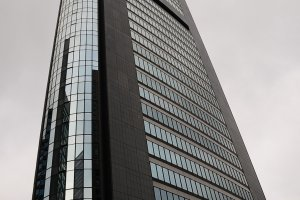 The Park Hotel is on the 25th floor of the Shiodome Media Tower.
