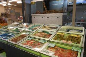 อาหารทะเลในตลาดโอมิโช