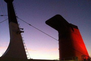 The smokestack at dawn
