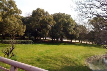 <p>The Kofun is next to Daisen Park in Mozu Sakai City</p>