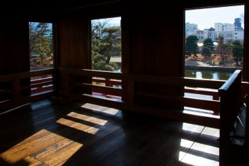 <p>A view from inside the castle.</p>