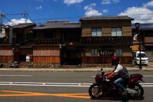 Cruising past Kyoto town