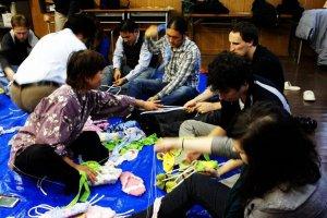 Sandal-making class with Tashiro-sensei