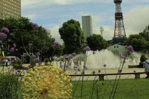 Odori Park ในวันที่ไม่มีเทศกาลใดๆ