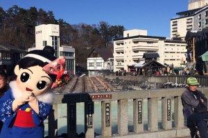 ณ Yubatake และ Yumomi chan...น่ารักจัง