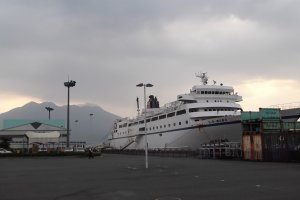 In port at Kagoshima