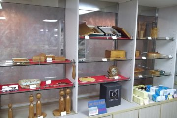<p>Souvenirs for sale in the ship&#39;s little shop</p>